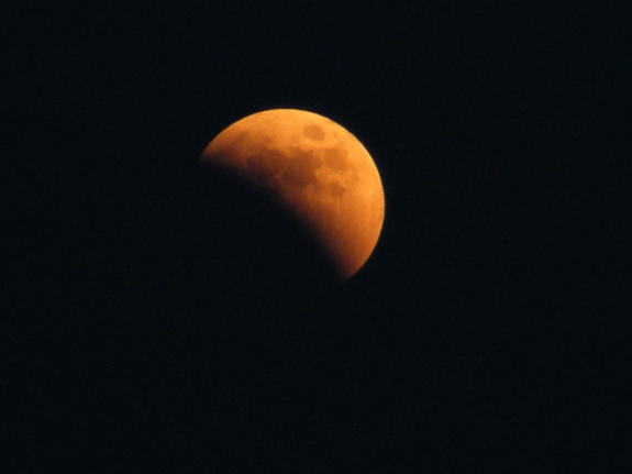 Skywatcher and photographer David Paleino snapped this view of the total lunar eclipse of June 15, 2011 from Italy using a Fujifilm FinePix S2000HD camera.