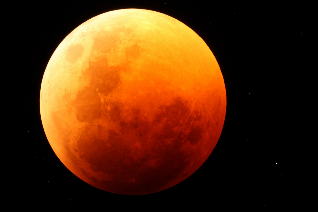 Blood Red Moon Eclipse Over NamibRand Nature Reserve