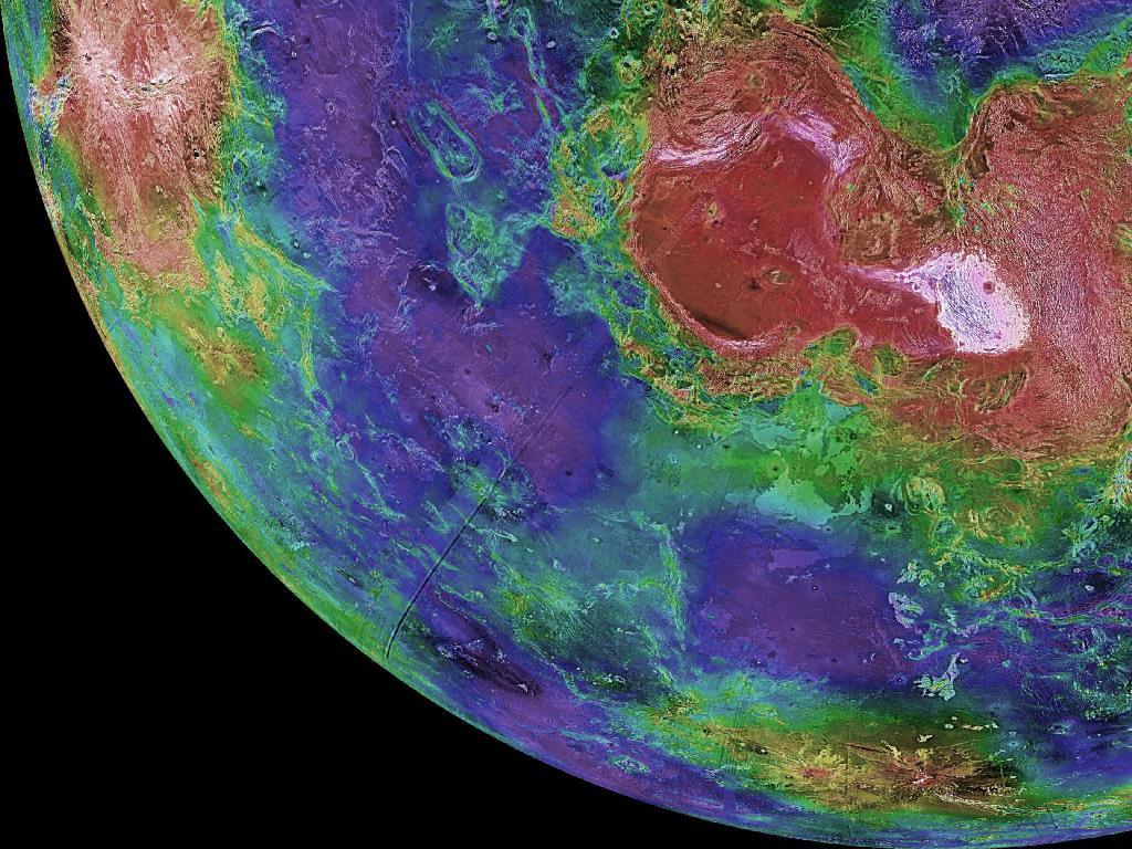 Radar Image of Venus