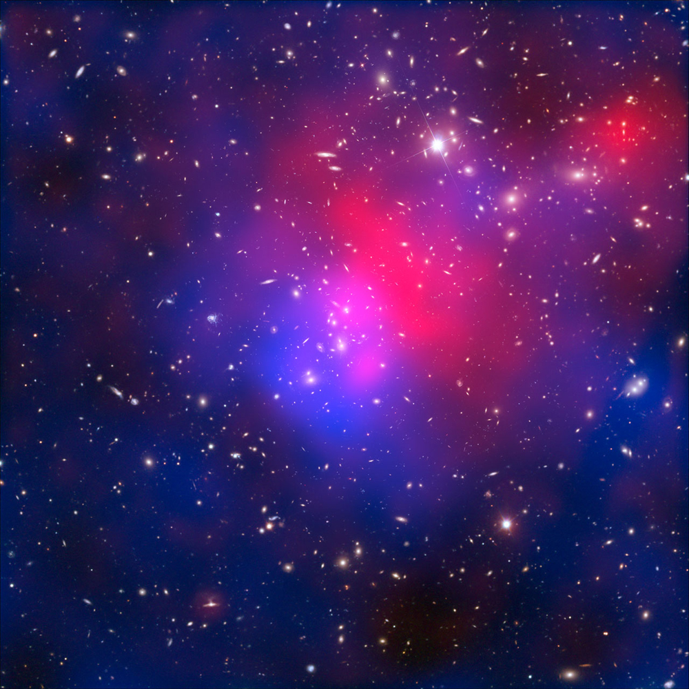 Abell 2744, or Pandora's Cluster, as seen by Hubble, Chandra and the VLT