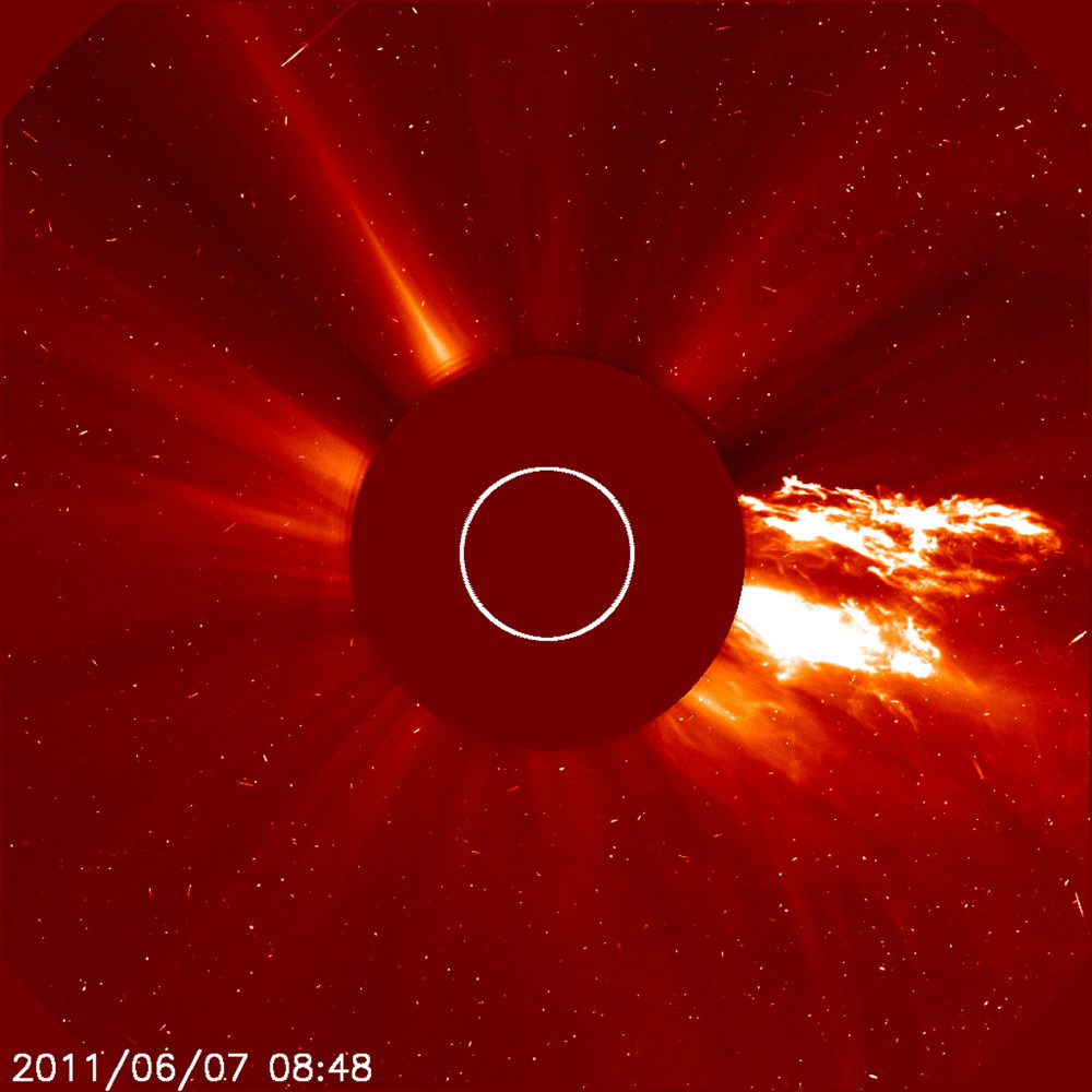 Spectacular Prominence Eruption of June 2011