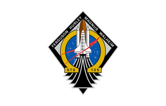 STS-135 patch.