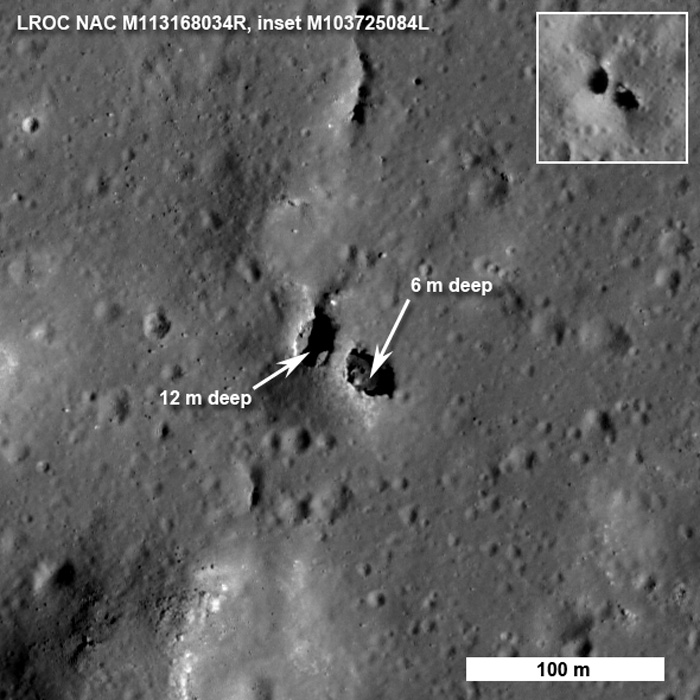 LRO shows natural bridge on moon