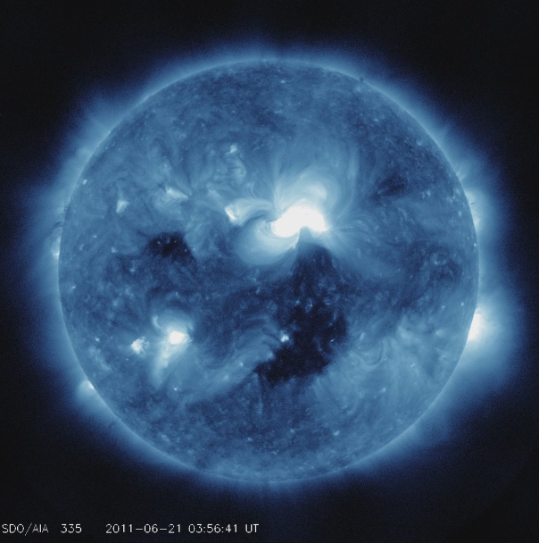 Solar Flares, Asteroids and Moon Bridges