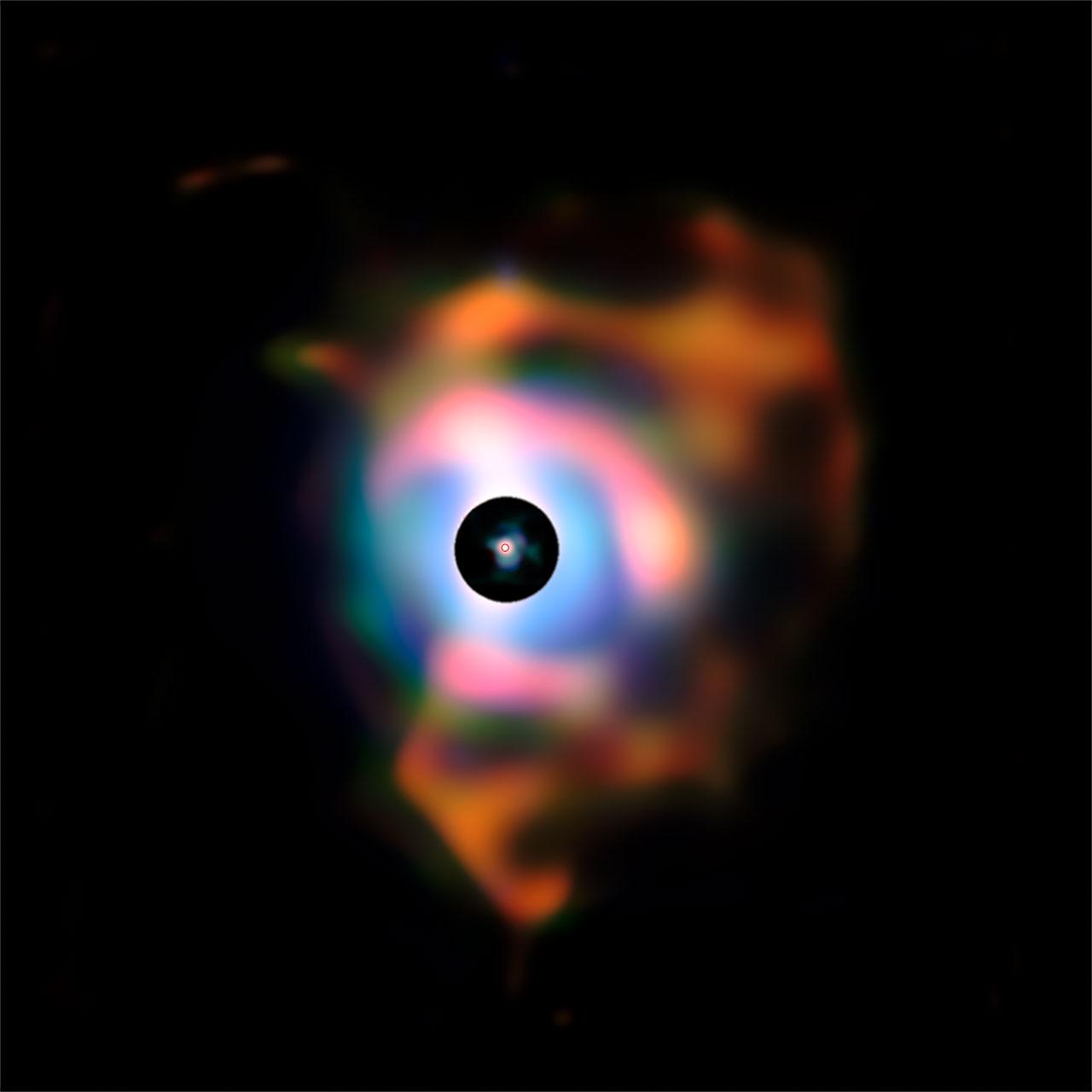 Supergiant Star's Rainbow Nebula Revealed
