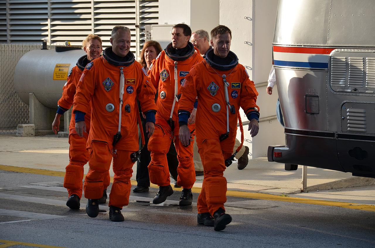 Last Space Shuttle Crew's Rehearsal