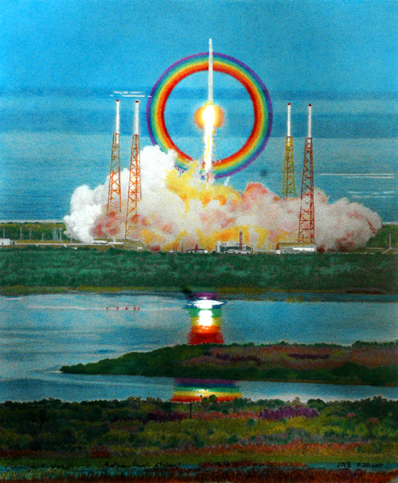 Painted Rocket Launches Blast Off in NYC Art Gallery