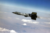 The X-15 rocket plane flew 199 times between 1959 and 1968.