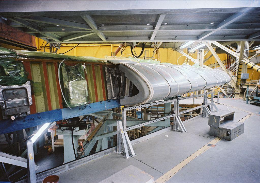 Atlantis' Left Wing Panel Installation