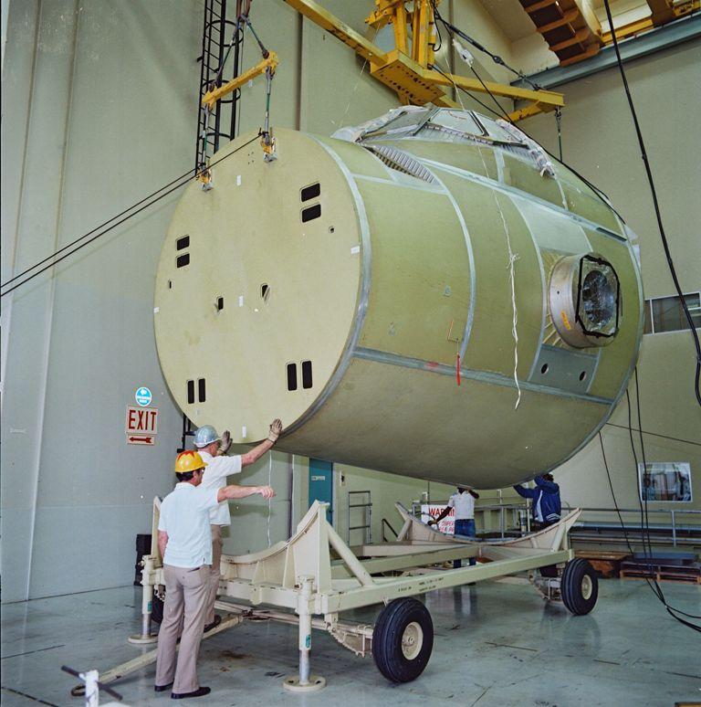 Atlantis' Crew Module Prepped for a Vacuum Test