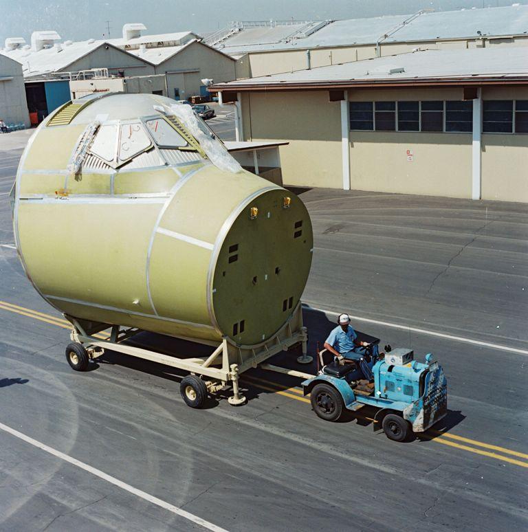 Atlantis' Crew Module in Transit