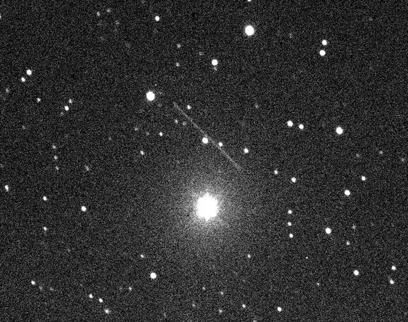 This view of asteroid 2011 MD was taken by members of the Remanzacco Observatory in Italy using a remote operated telescope in New Mexico during the asteroids extremely close pass by Earth on June 27, 2011.