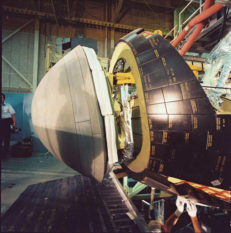 Construction of Atlantis' Nose Cap