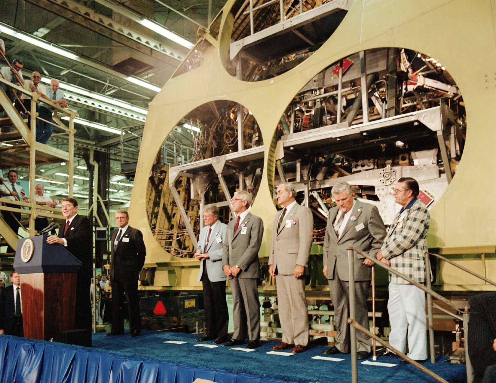 President Reagan with Atlantis