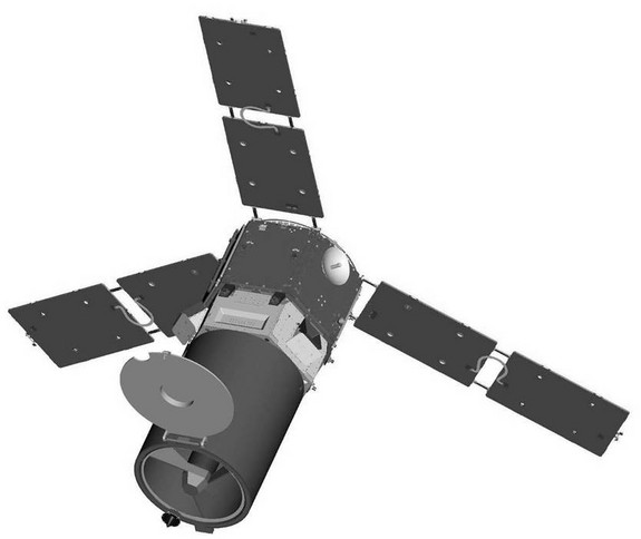 Illustration of the ORS-1 satellite, an operational prototype, scheduled for a one to two-year mission.