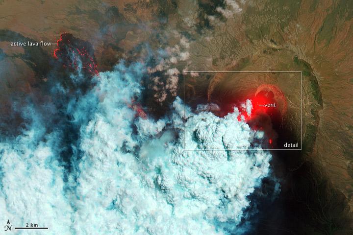 Remote Nabro Volcano Eruption Revealed in Satellite Photos