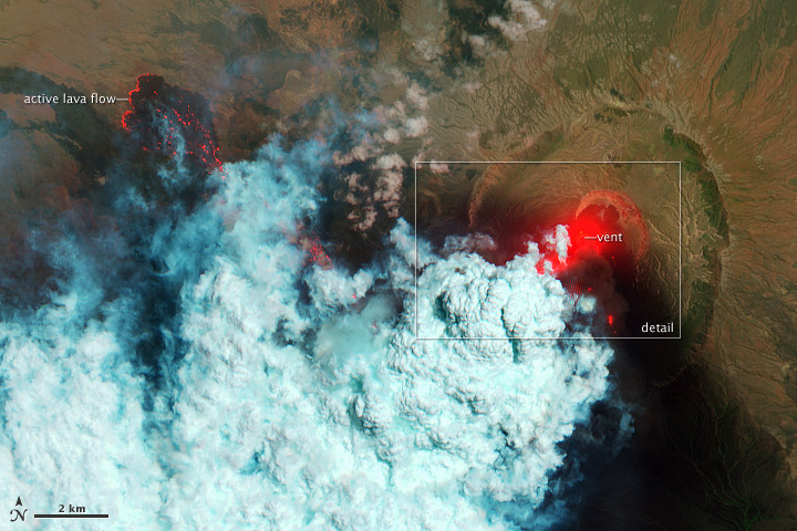 Remote Nabro Volcano Eruption Revealed in Satellite Photos