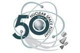 Logo celebrating 50th anniversary of the first nuclear space flight.