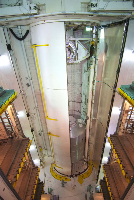 Space Shuttle Atlantis' Payload Bay Doors Closed for Flight