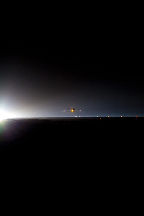 Aboard a Shuttle Training Aircraft