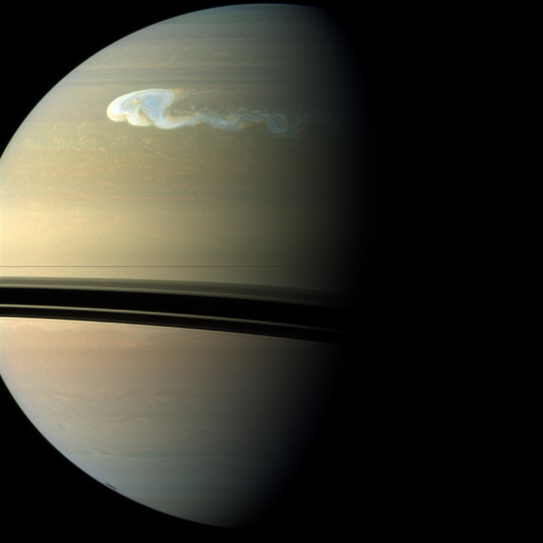 Saturn's Great White Storm