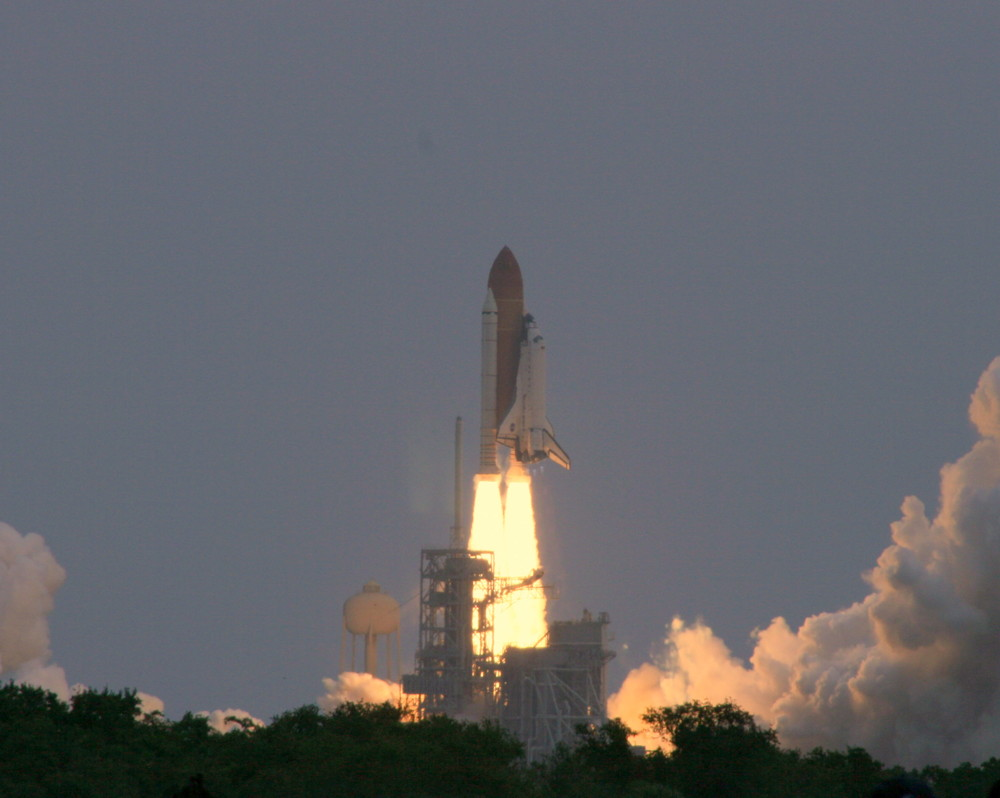 Close-up of Atlantis' Launch