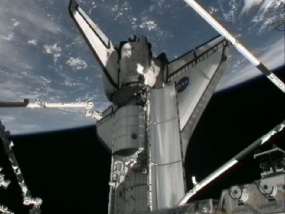 At Space Station, Shuttle Astronauts Make Last Big Delivery