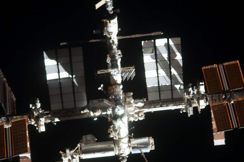 International Space Station Photographed from the Space Shuttle Atlantis