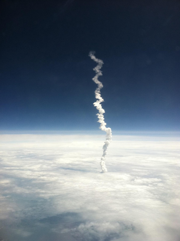 Space Shuttle Launch From Above