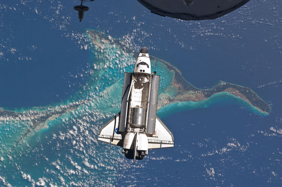 shuttle launch from space station - photo #12
