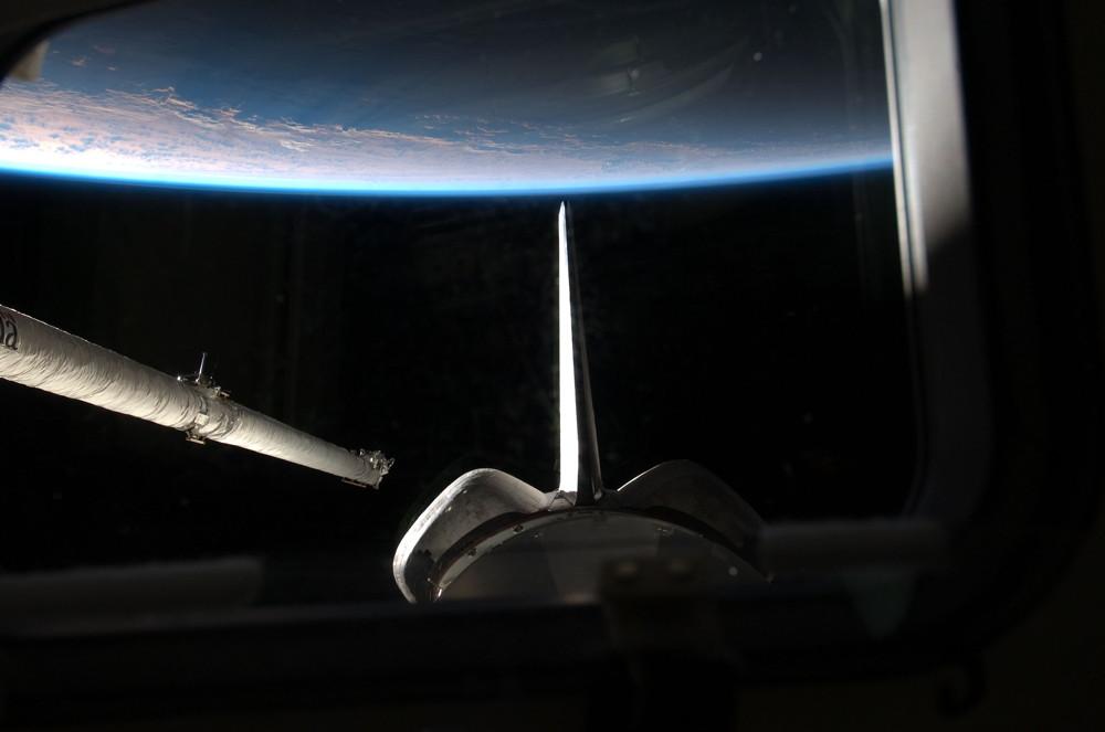 Atlantis' Orbiter Boom Sensor System