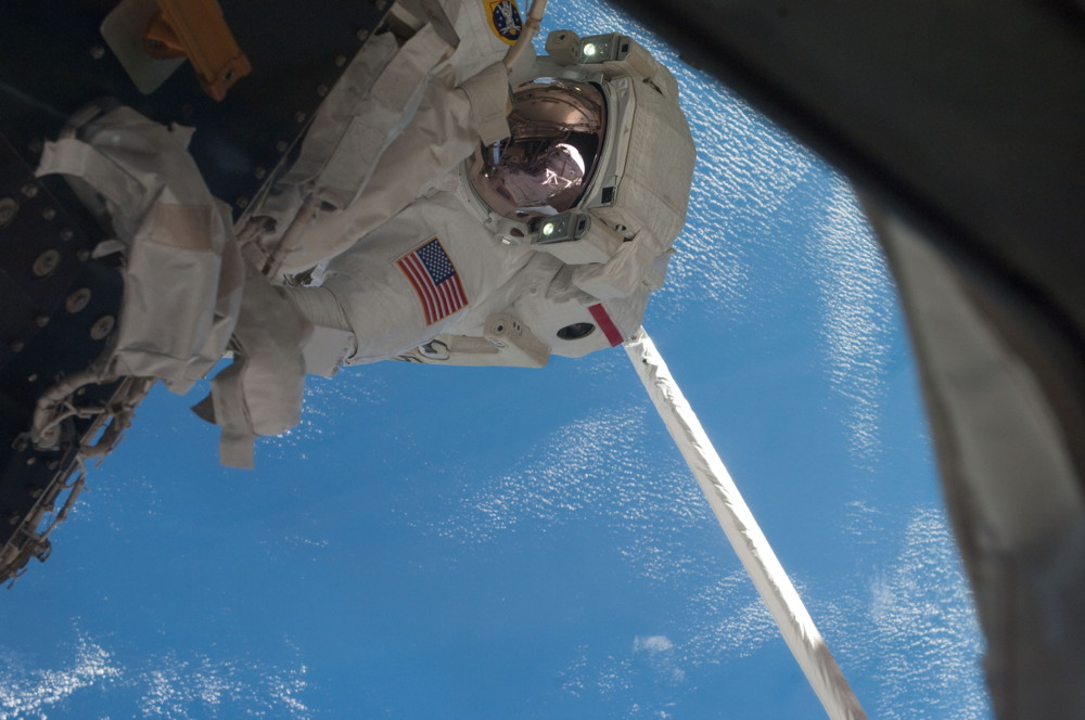Fossum Spacewalk During STS-135