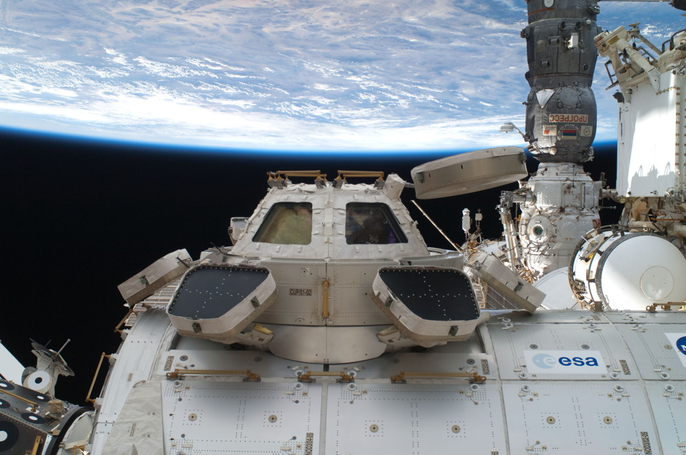 High Angle of the International Space Station Cupola