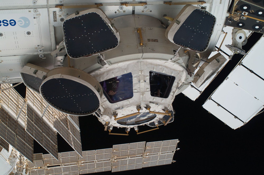 The International Space Station Cupola Close-up