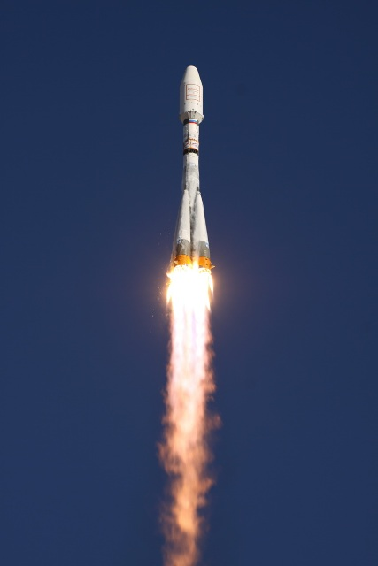 Soyuz Soars Toward Orbit on July 13, 2011