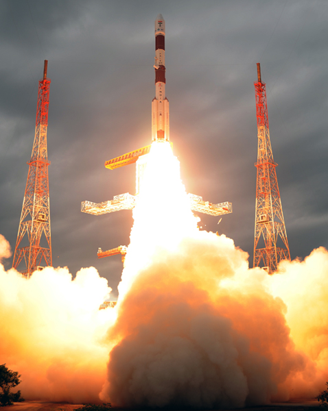 India's PSLV Soars With Satellite