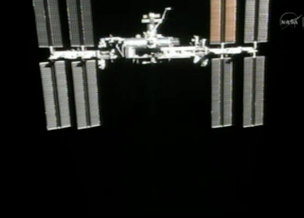 The International Space Station as Seen from Shuttle Atlantis After Undocking