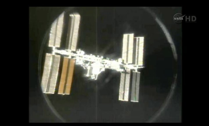 One Last Space Station View From Shuttle