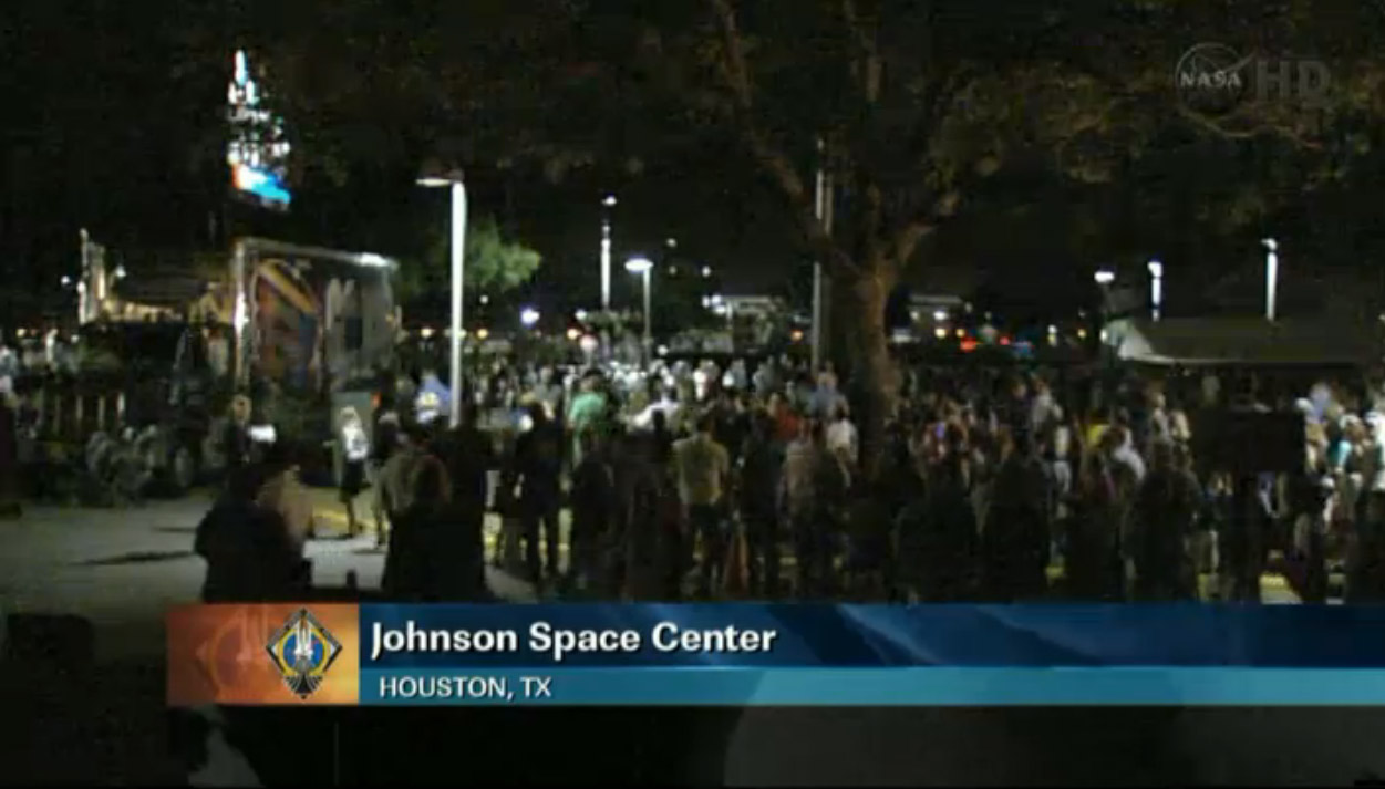 Houston Crowd Catches Final Shuttle Landing
