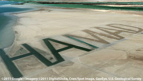 Sheikh's Name Written in Sand Visible from Space