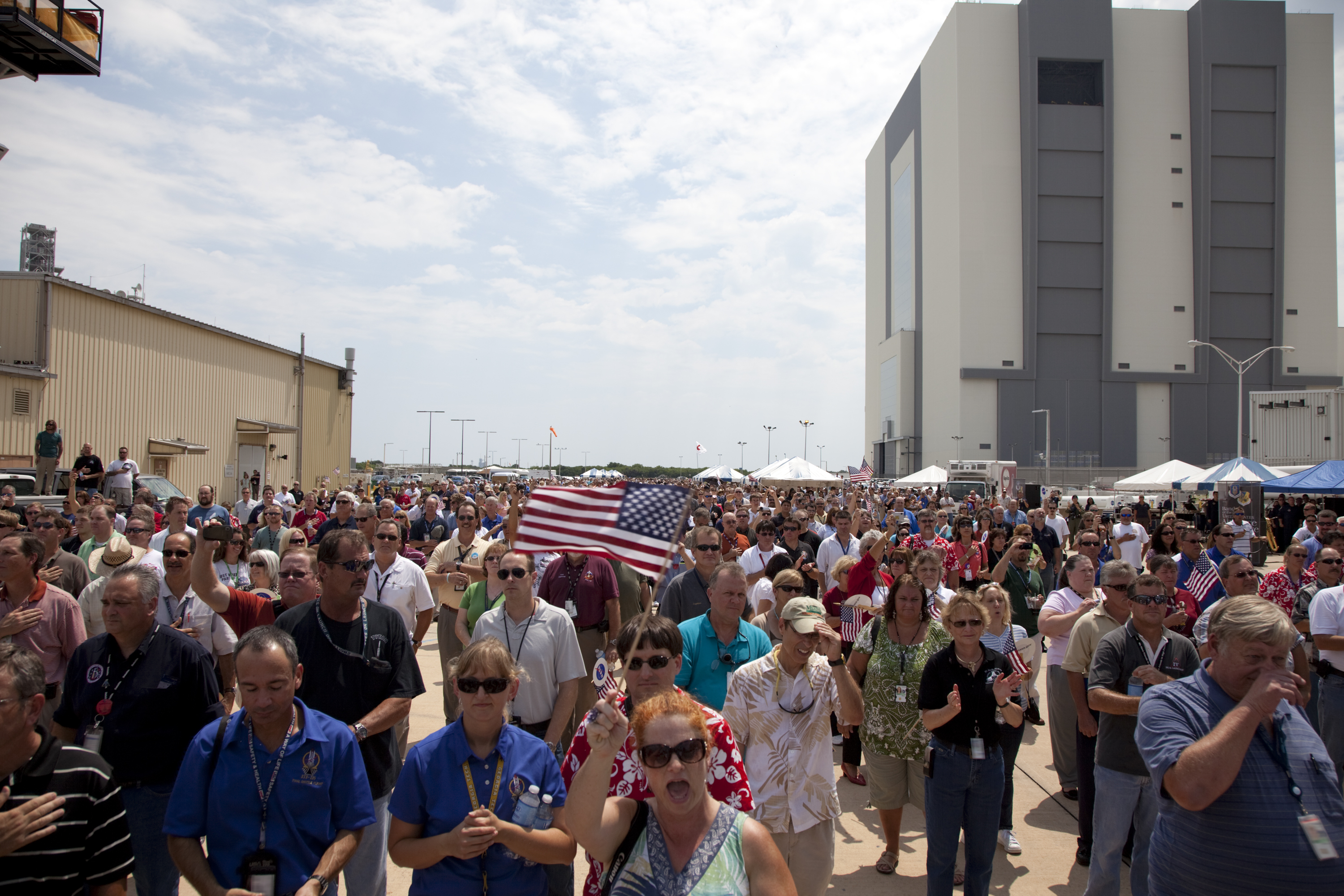 NASA's Space Shuttle Workers at Employee Appreciation Event