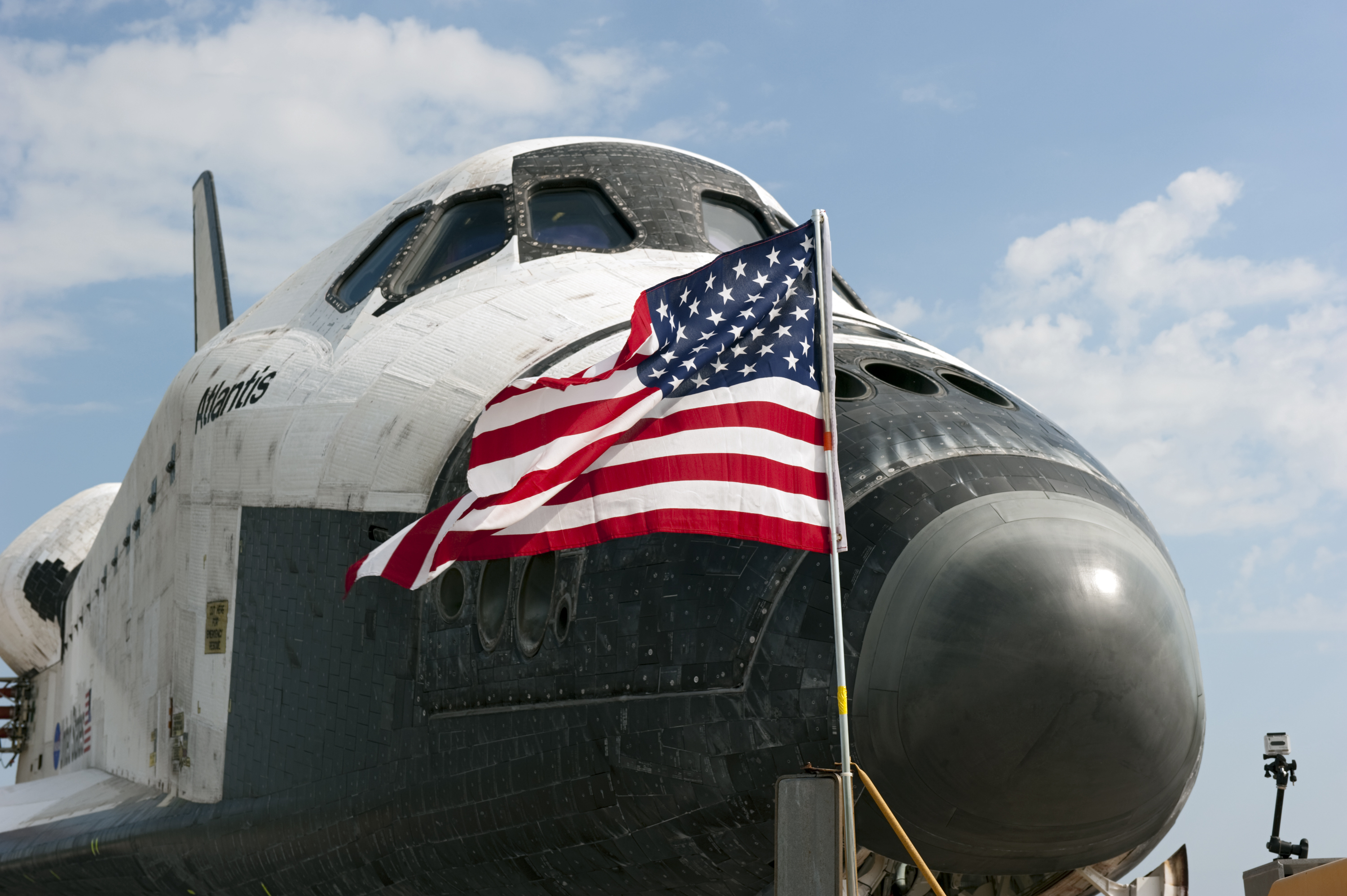 Space Shuttle Atlantis American Flag