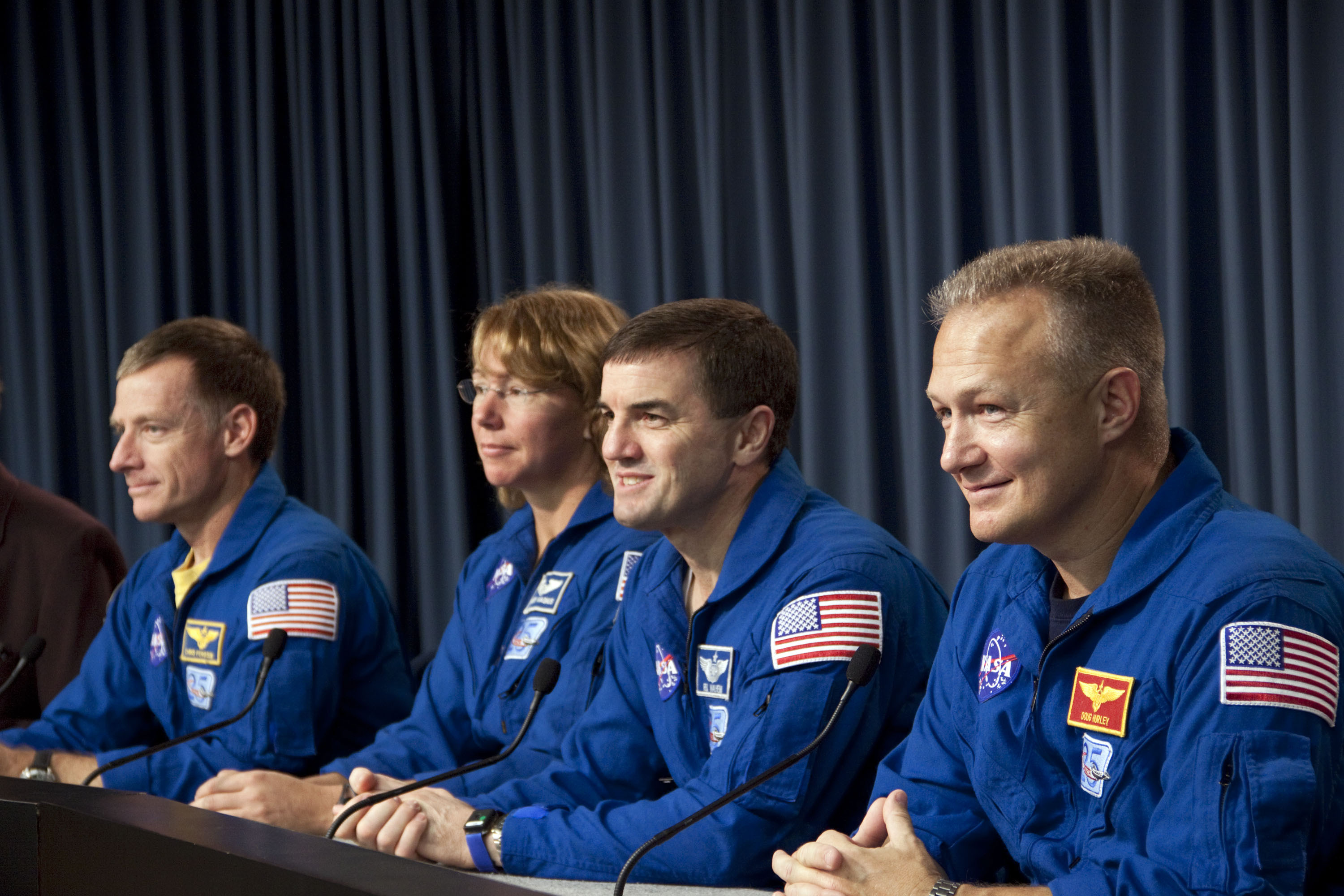 Space Shuttle Atlantis' Crew at Press Conference