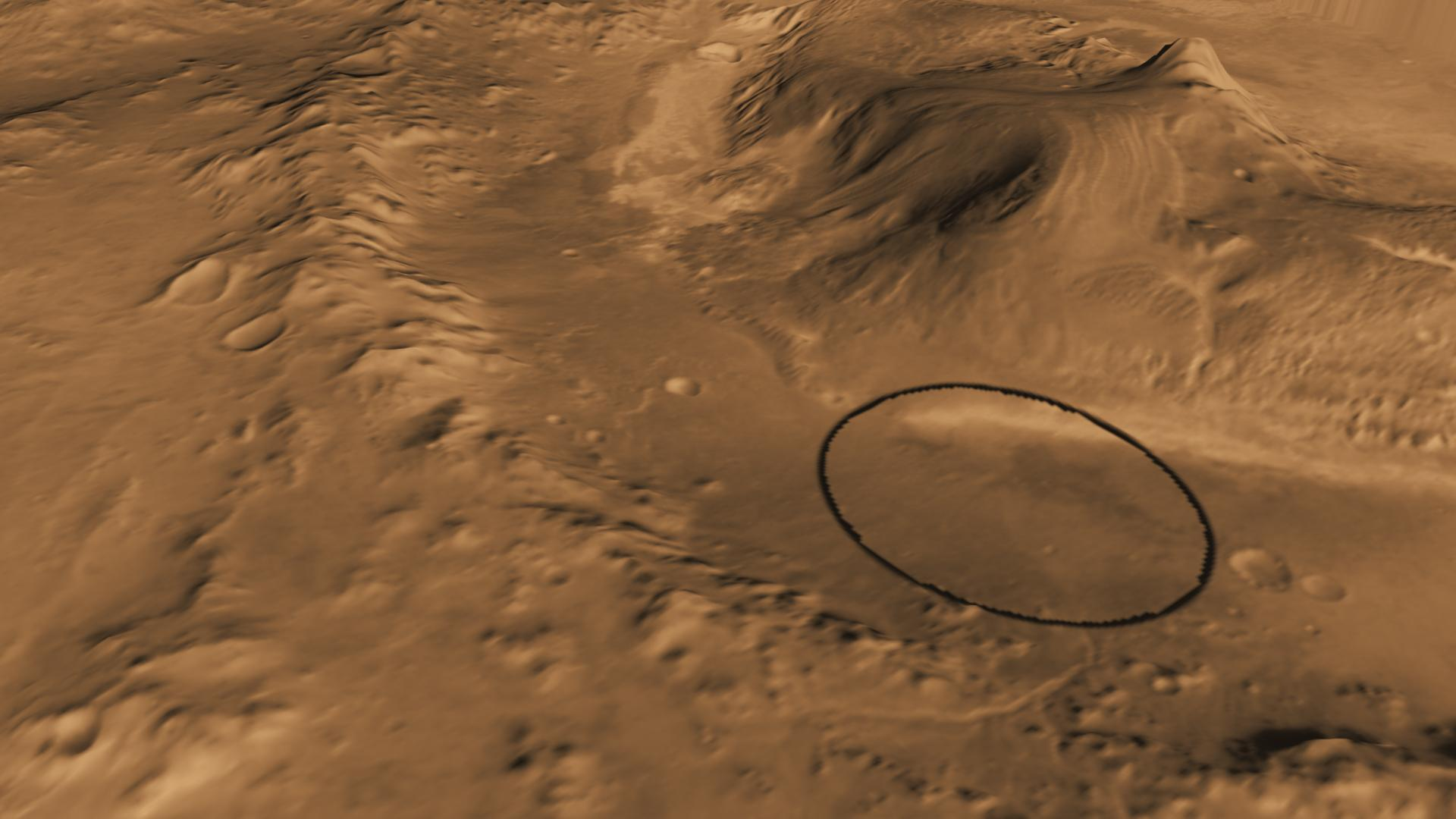 NASA's Next Mars Rover to Land at Huge Gale Crater