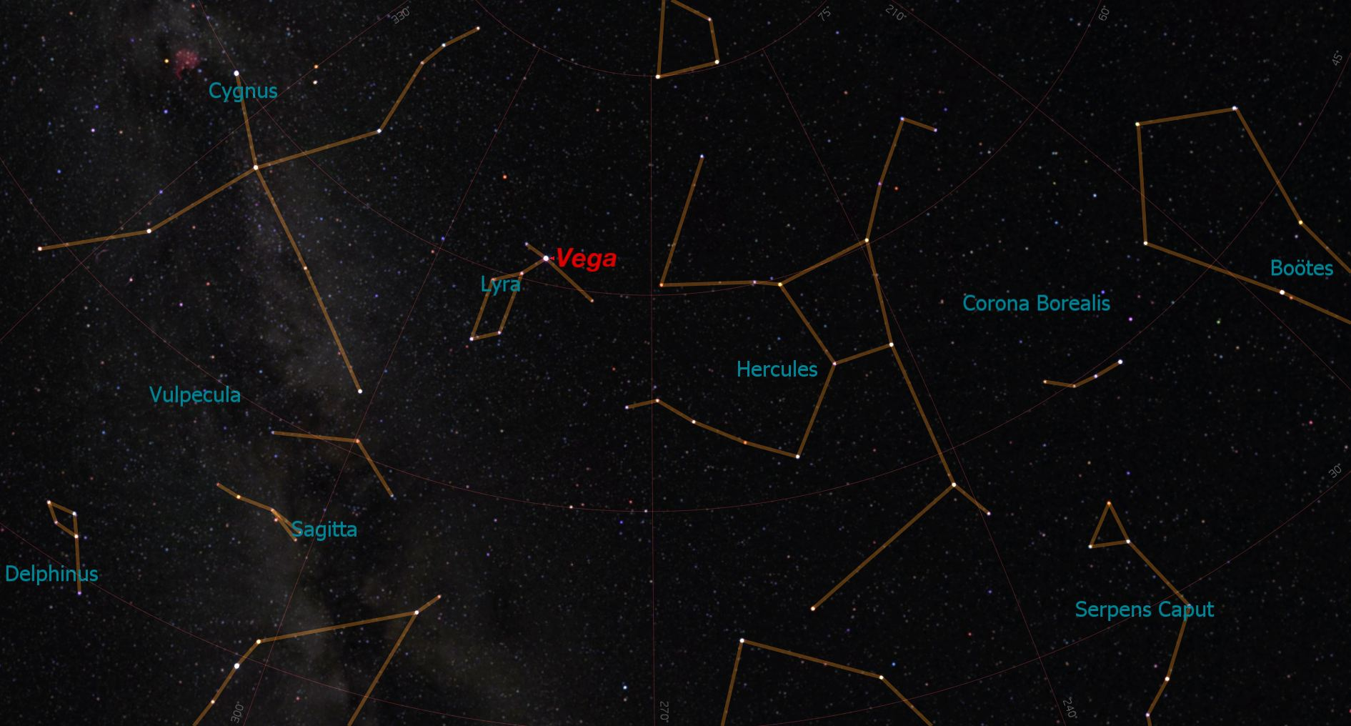 Vega's Location in Lyra