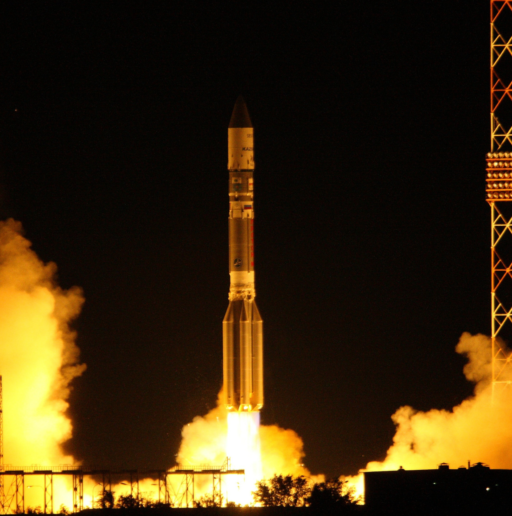 Proton Rocket Launches Two Satellites — July 15, 2011