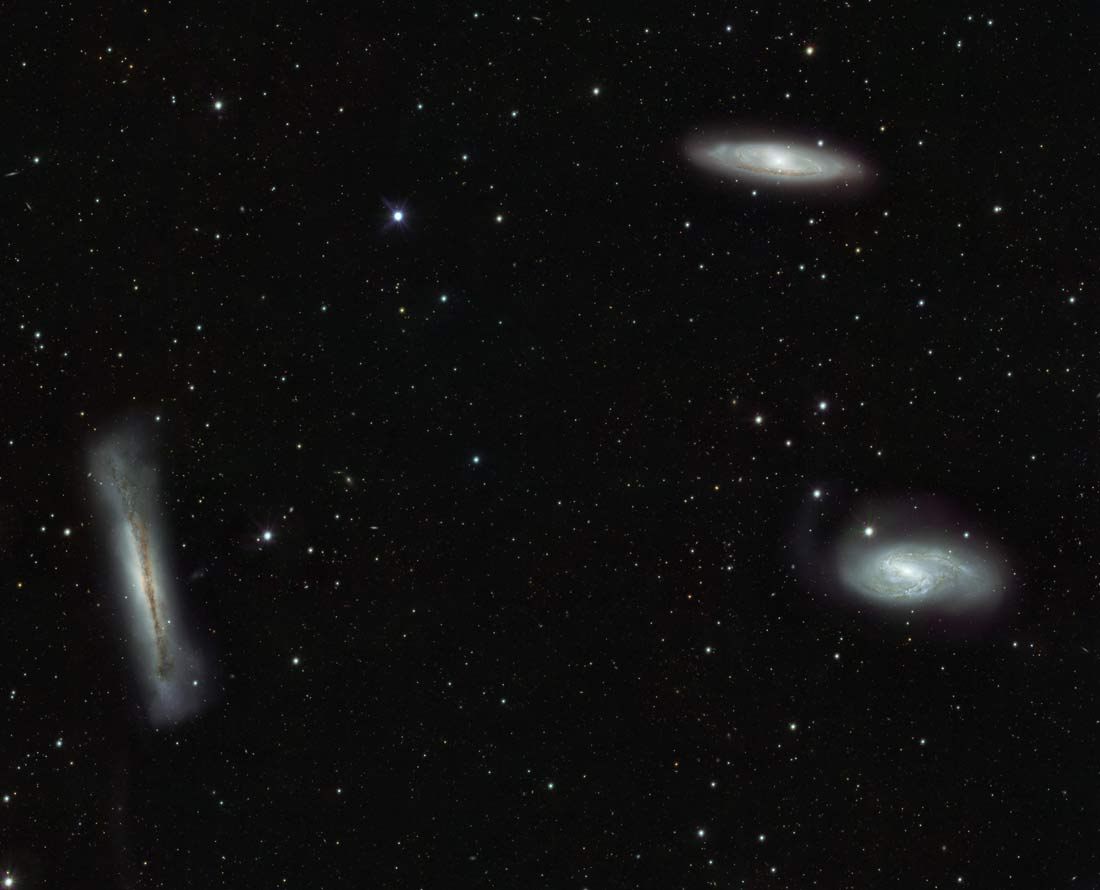 Galaxy Triplets Pose for Cosmic Family Portrait