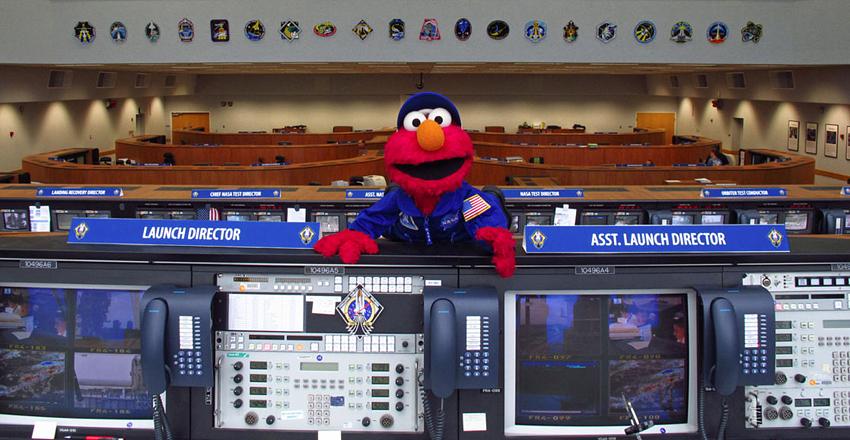 Elmo at NASA