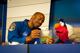 Former astronaut Leland Melvin taught the ABCs of living and working in space.
