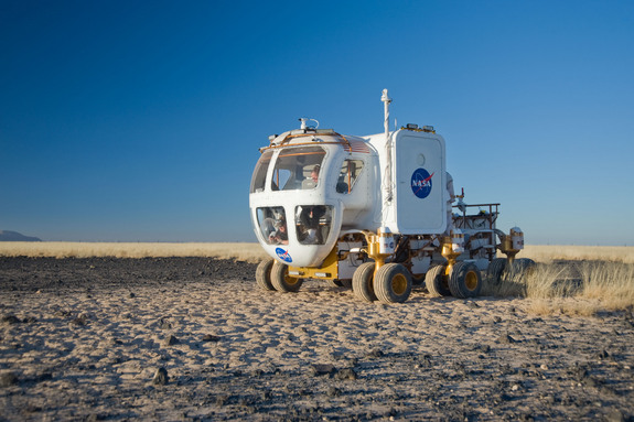 During the 2008 Desert RATS tests at Black Point Lava Flow in Arizona, engineers, geologists and astronauts came together to test the surface version of the Space Exploration Vehicle.